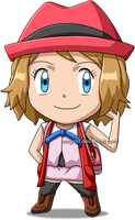 Pokemon - Chibi Serena by SergiART
