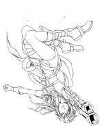 Lightning Somersault Inked by jpdans4