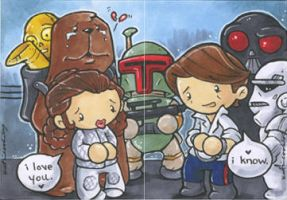 star wars: i love you...i know by katiecandraw