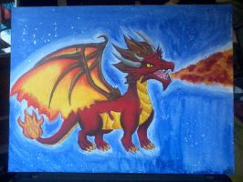 dragon painting by beccahanks