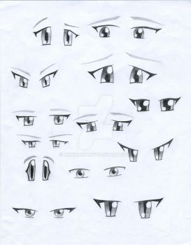 Anime Eyes by Mayzart