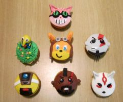Videogame Cupcakes by Leenspiration