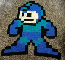 Megaman 8 Bit Afghan by Mdnghtkith