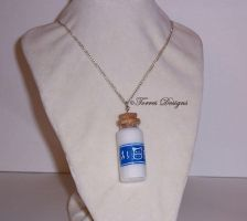 Lon Lon Ranch Milk Bottle Necklace Zelda OOAK by TorresDesigns