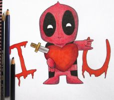 -- Chibi Deadpool -- by Nay-Hime