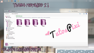 Tema Iconpackager Moradito 2 by TutosPixi