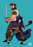 Galvin and Thoric by tohdaryl