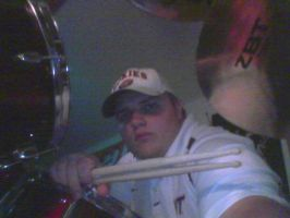 Hokie On Drums by Tommyhawk