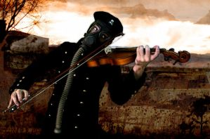 Wasteland Violinist by TheoGoth