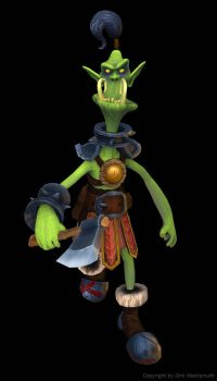 Skinny Orc (Low Poly Character) by dirkwachsmuth