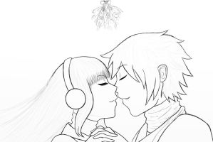 Mistletoe Outlines by nutty-manju
