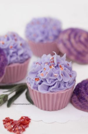 Lavender Mousse Chocolate Cups w/ Chocolate Lids by theresahelmer