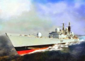 Destroyer HMS Edinburgh by fmr0
