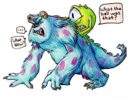 Mike and Sulley by ingunnsara