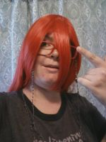 Grell Sutcliff Cosplay Wig + Glasses by CrystalRobot
