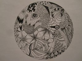 Zentangle by Benergee