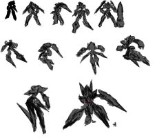 Tornado MK XXI Humanoid Mode Concept Silhouettes by AMO17