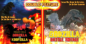 Double Feature Poster 01 - Godzilla Fan Films by KingAsylus91