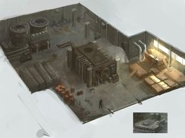 The structure of the building on 'Industrial' #1 by MaxBrigadier
