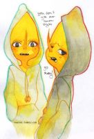 lemons in hoodies by teacosies