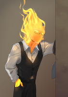 Grillby #2 by Meammy