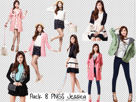 Pack 8 PNGs Jessica by Mynie by bttmy