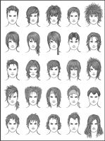Men's Hair - Set 9 by dark-sheikah