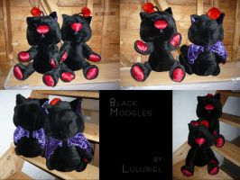 Black Twin Moogles by Luluriel