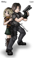 Leon and Ashley by louisalulu