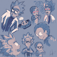 Rick And Morty Doodles by FoReal100