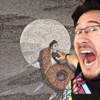 Markiplier pointing at 6M subscribers picture by Darmo117