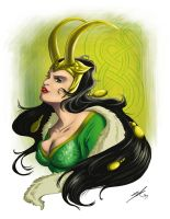 Lady Loki by rice-claire