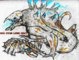 Pacific Rim Kaiju contest: Scissor (Larvae/Adult) by Quinn-Red