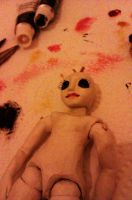 tiny bjd faceup painting by bolt-for-home