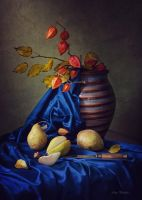 Still life with autumn pears by Daykiney