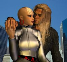 Lourdes and Poseidon in New York II by LuckyLilith