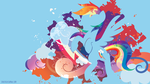 Rainbow Dash Silhouette Wall by SambaNeko