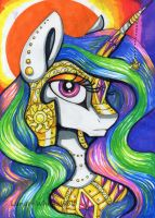 Solar warrior by Lunar-White-Wolf
