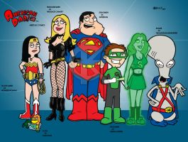 American Dad meets DC Comics by kameleon84