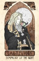 Castlevania SOTN Art Nouveau by the-lagz