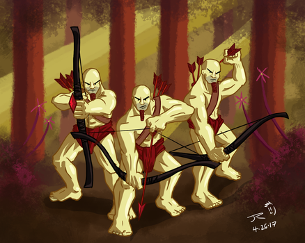 The Three Archers by JessyRuiz