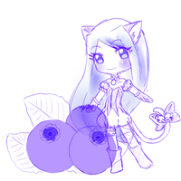 Mew Blueberry by MelonFluff