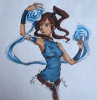 Korra - waterbending by Aku-X-Fox