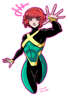 Marvel Girl Jean Grey by LucianoVecchio