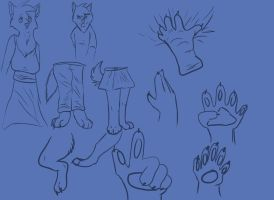 Anthro Things (Sketches) by DangerousBallOfFur