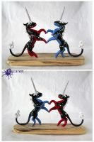 Unicorns of Starsign Love - Sculpture by Escaron