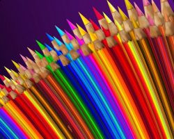 A Sea of Colored Pencils by rabbitica
