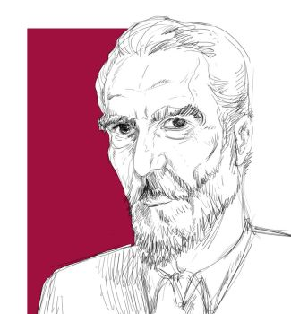 Sir Christopher Lee by zobly