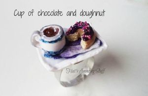 Doughnut and Hot chocolate! by LitsaHut
