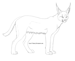 Free Caracal Lines by Daesiy